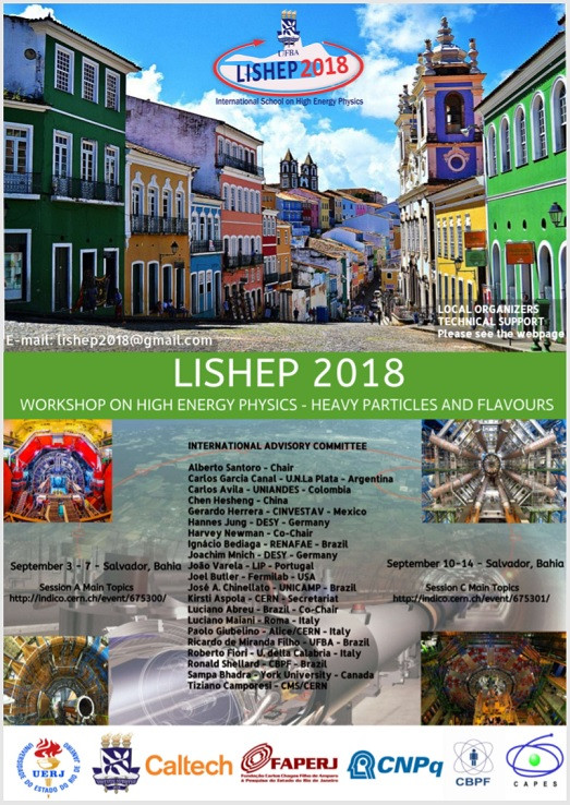 Cartaz A International School on High Energy Physics  – LISHEP 2018