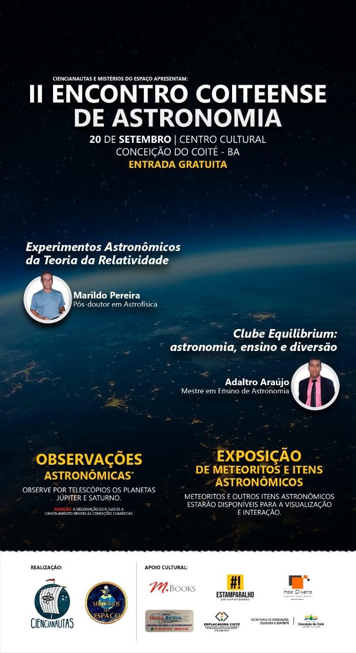 Cartaz do II Encontro Coiteense de Astronomia