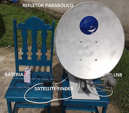 Exemplo de radiotelescópio com Anten Banda Ku