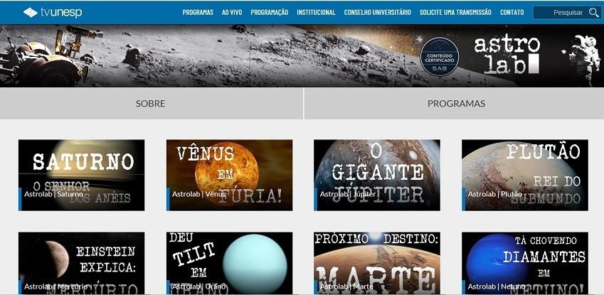 Canal Astrolab da TV Unesp