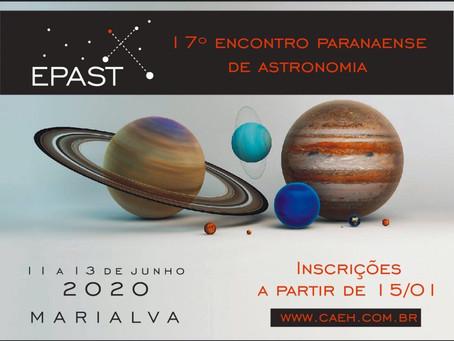 Divulgação do 17º Encontro Paranaense de Astronomia - EPAST