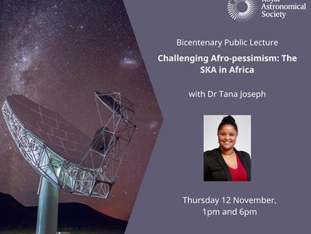 Palestra The SKA in Africa, com Dra. Tana Joseph