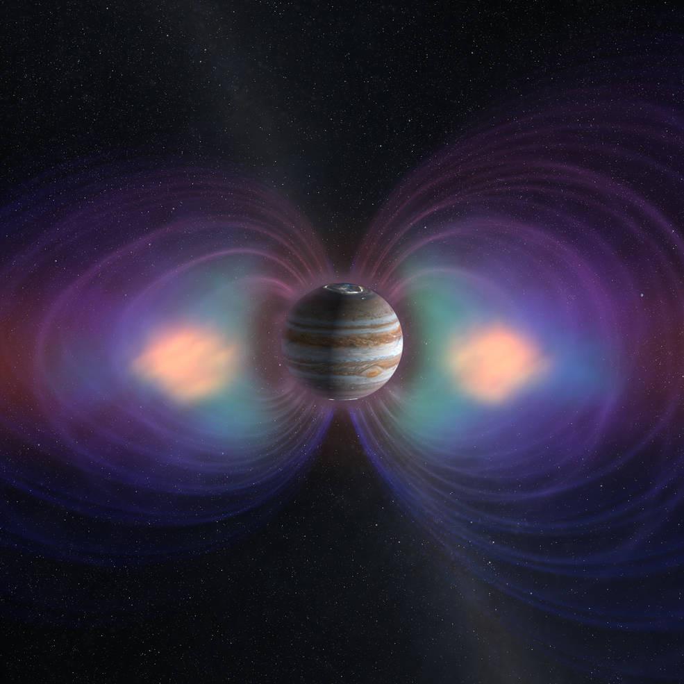 Ilustração da Magnetosfera de Júpiter