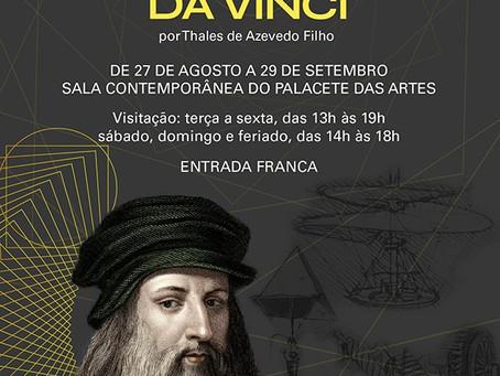 Leonardo da Vinci no Palacete das Artes