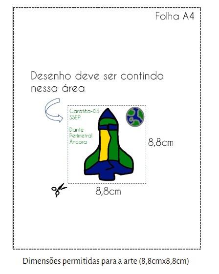 Dimensões para o desenho do Patch ISS