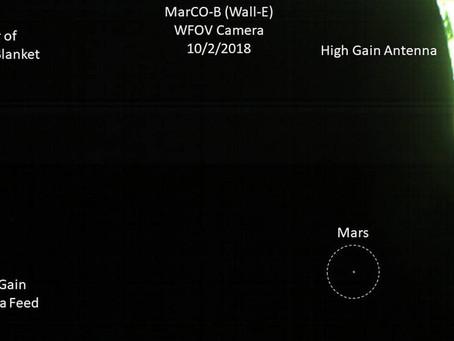 CubeSat da NASA manda primeira foto de Marte