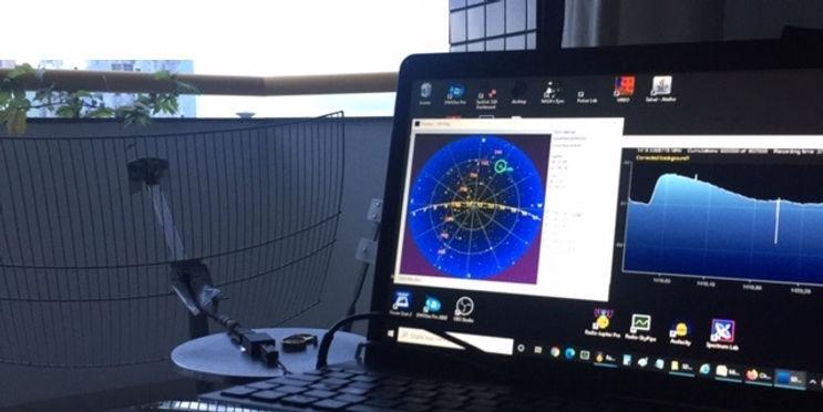 Setup para observar 1420 MHz