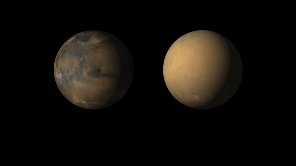 Animação da NASA - tempestade em Marte
