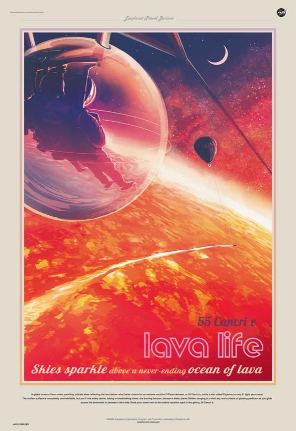 Pôster exoplaneta 55 Cancri e