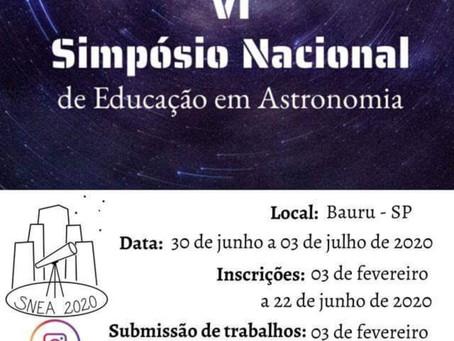 VI Simpósio Nacional de Educação em Astronomia - VI SNEA - 2020