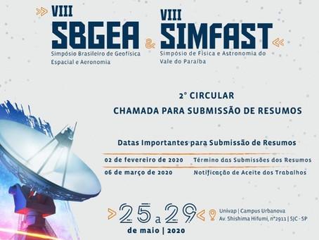 Divulgação do 8° Simpósio de Física e Astronomia do Vale do Paraíba (VIII SimFAST)