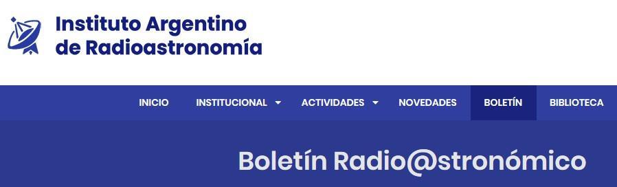 Boletín Radio@stronómico - IAR