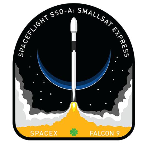 Patch do lançamento da SpaceX