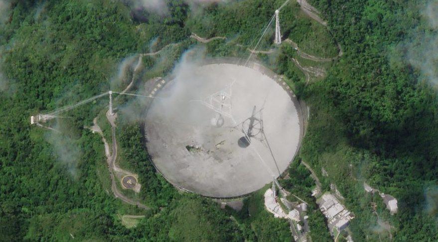 Imagem de satélite de Arecibo
