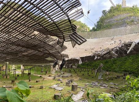 Radiotelescópio Arecibo foi danificado após queda de cabo