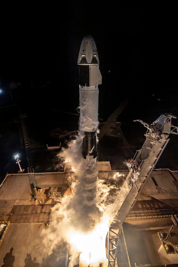 Lançamento da Crew Dragon para a ISS em 02/03/2019