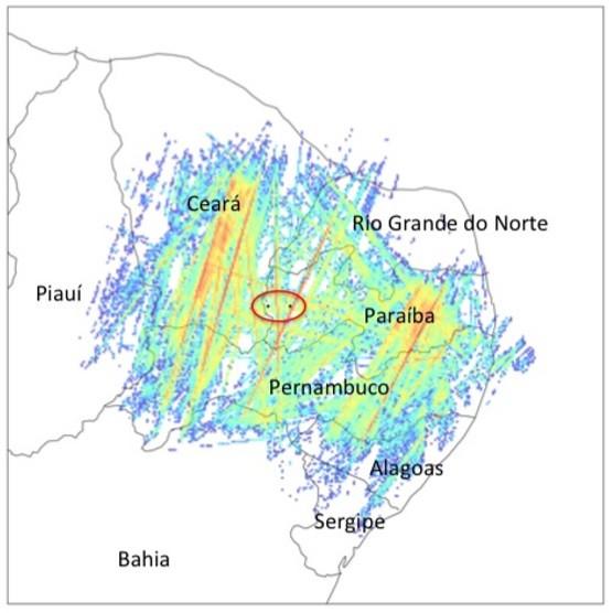 Locais para construção do BINGO na Paraíba