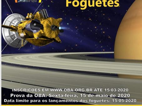 Divulgando a 23ª Olimpíada Brasileira de Astronomia e Astronáutica - OBA