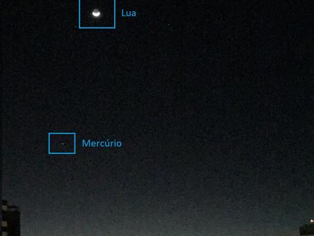 Astronomia com o celular: Vênus, Lua e Mercúrio