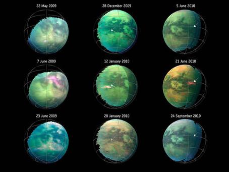 Tempestade de poeira em Titã