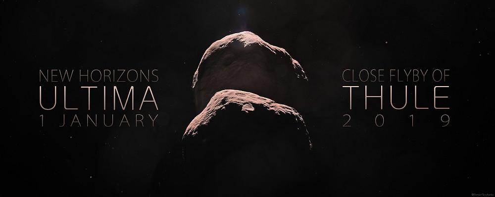 Concepção artística de Ultima Thule no Cinturão de Kuiper