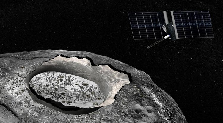 Concepção artística do asteroide Psyche