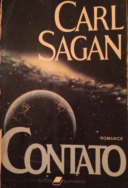 Capa do livro Contato, de Carl Sagan
