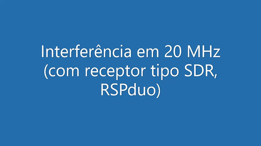 Pesquisa RFI com rádio RSPduo