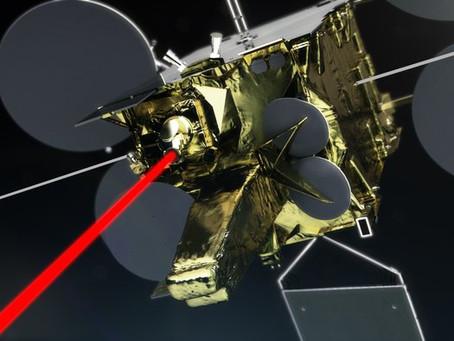 Satélite de comunicação a laser, de alta velocidade