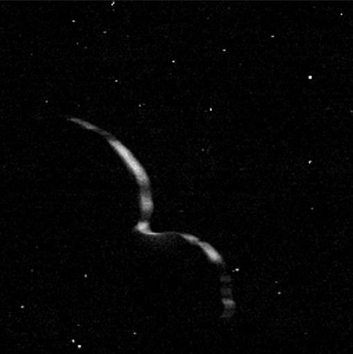 Silhueta de Ultima Thule (NASA)