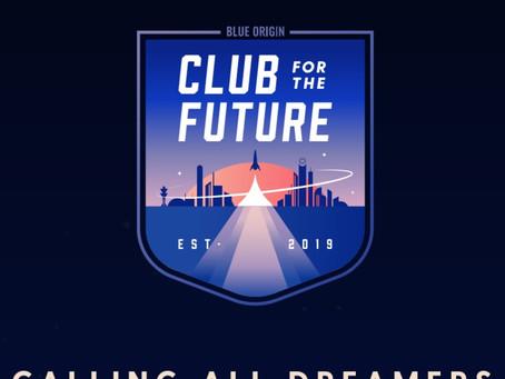 Club For The Future. Envie cartão postal ao Espaço
