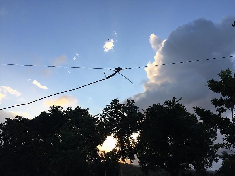 Antena dipolo meia-onda 20 MHz
