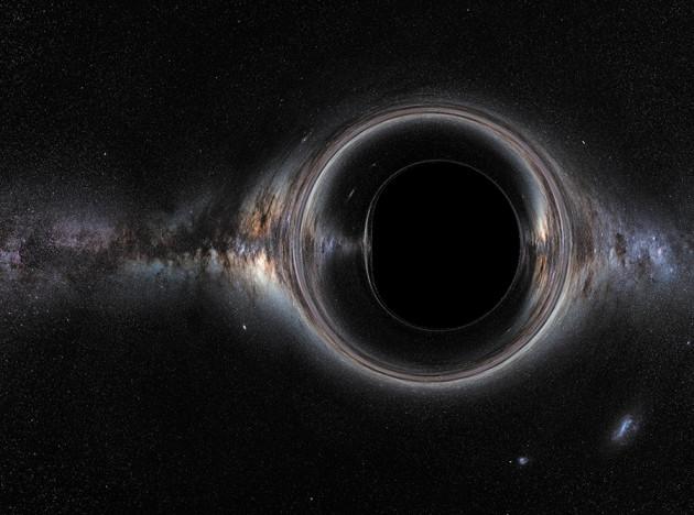 Concepção artística de buraco negro