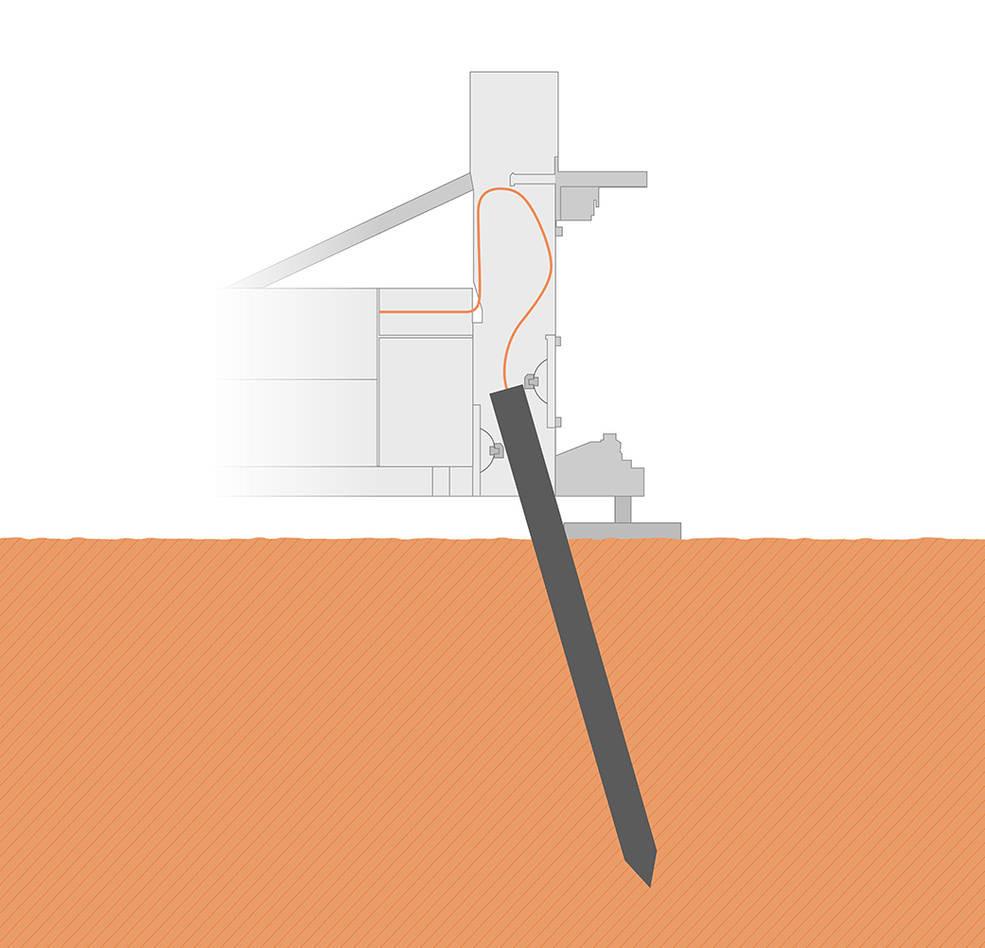"""Ilustração da """"Mole"""" no solo marciano"""