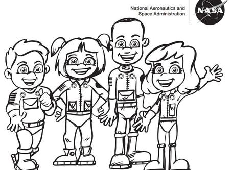 Concurso do calendário infantil NASA Commercial Crew 2021