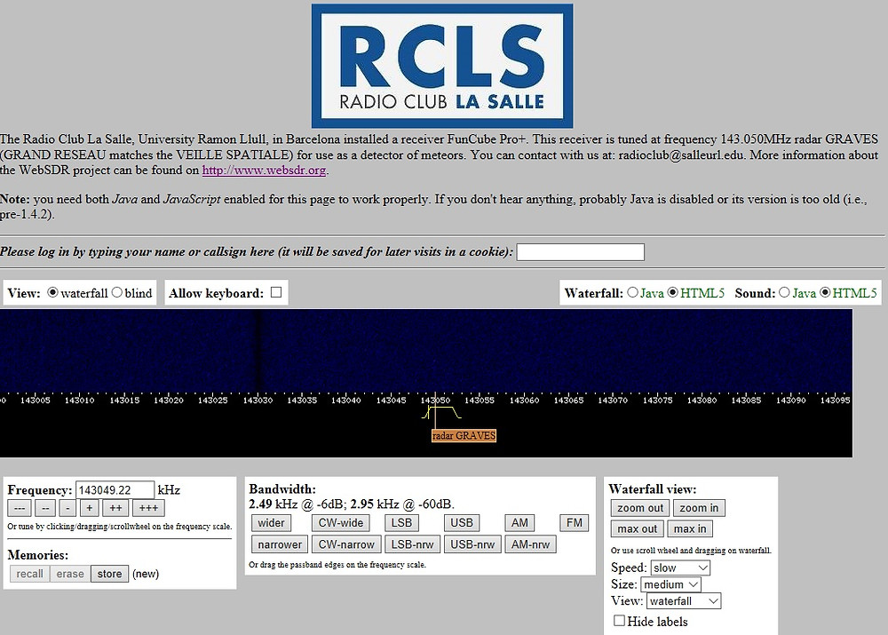SDR Receiver online do RCLS