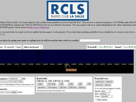 Radio Club La Salle monitora meteoros online