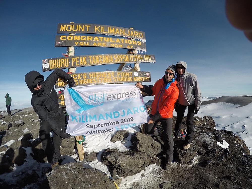 phil express au kilimandjaro