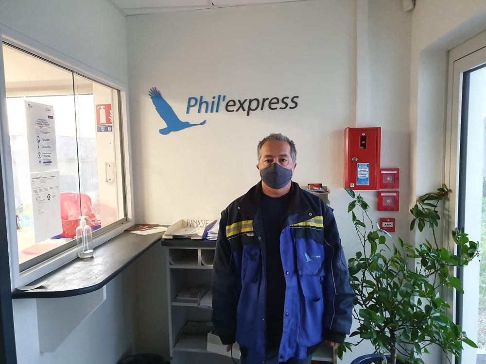 masque en tissu Covid 19 transport phil'express