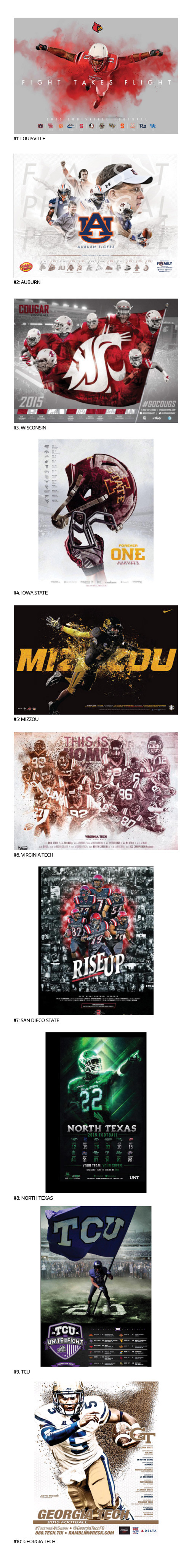 TOP 10 COLLEGE FOOTBALL POSTERS