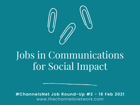 #ChannelsNet Jobs Round-Up #2