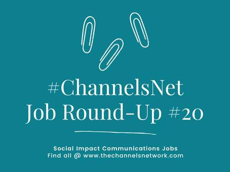 #ChannelsNet Jobs Round-Up 20