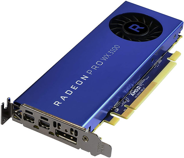 AMD Radeon Pro WX 3100 Professional Graphics Card, 4GB DDR5, DP, 2 miniDP (mDP t