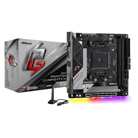 ASRock B550 Phantom Gaming-ITX/ax AMD Socket AM4 Mini ITX HDMI/DisplayPort USB 3