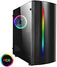 CiT Beam MATX Gaming Case Rainbow RGB Strip 1 x Rainbow RGB fan Acrylic Side
