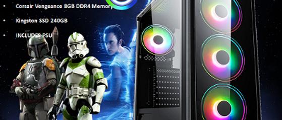 CTG03 AMD RYZEN 3 3200G with 8GB RAM + 240GB SSD - PRE-BUILT SYSTEM