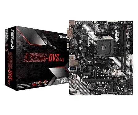 Asrock A320M-DVS R4.0, AMD A320, AM4, Micro ATX, 2 DDR4