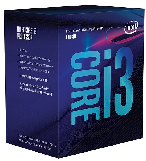 Intel i3 8100 Coffee Lake 3.6GHz Quad Core 1151 Socket Processor
