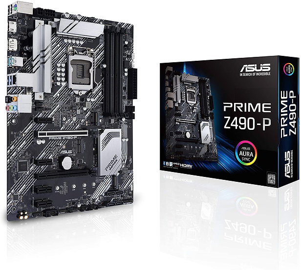 Asus PRIME Z490-P, Intel Z490, 1200, ATX, 4 DDR4, XFire, HDMI, DP, RGB Lighting,