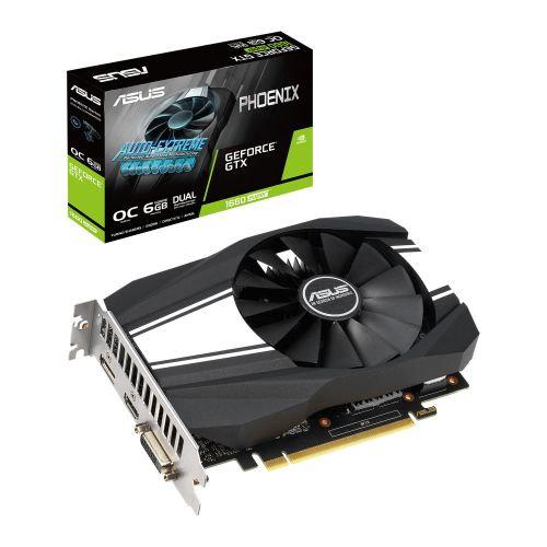 Asus Phoenix GTX1660 SUPER OC, 6GB DDR6, DVI, HDMI, DP, 1830MHz Clock, Compact